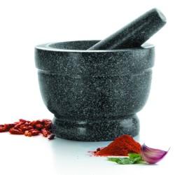 Mortier avec pilon ø 18 cm granit