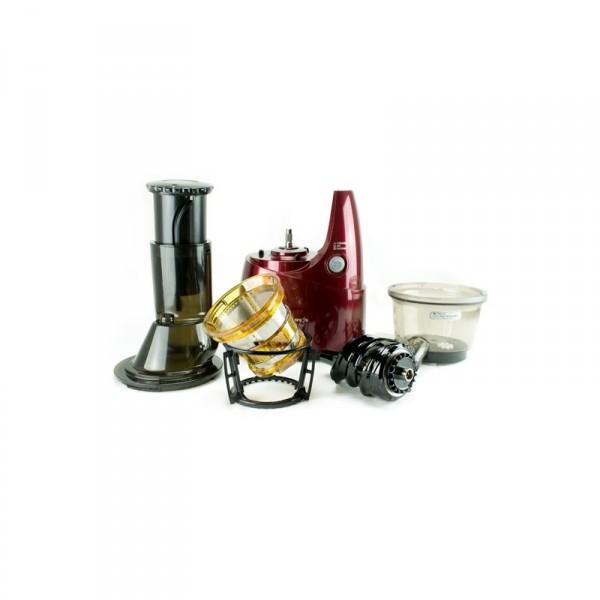 achetez extracteur de jus kuvings b9400 rouge livre de recettes pas cher. Black Bedroom Furniture Sets. Home Design Ideas