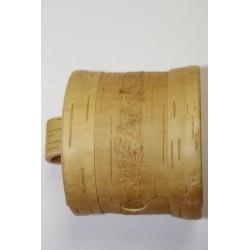Boite en ecorce de bouleau ronde diam 8 hauteur 7 cm
