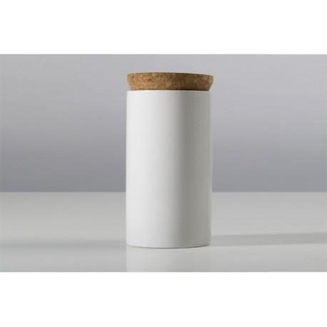 CHAI - Boite à thé Ø 8.5 cm BLANC