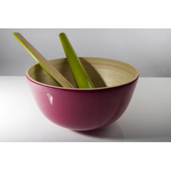 Achetez tchon saladier bambou 28cm framboise pas cher - Saladier plastique pas cher ...