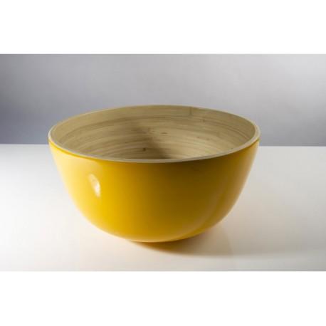 TCHON - Saladier bambou Ø 28cm SOLEIL