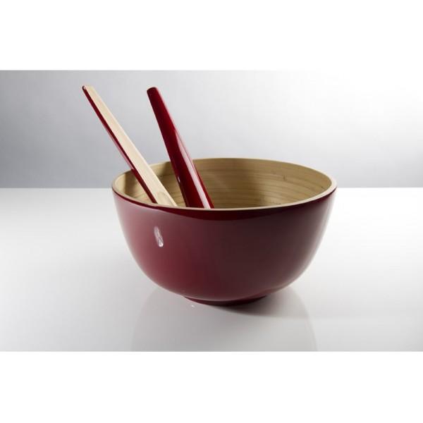 Achetez tchon saladier bambou 28cm cerise pas cher - Saladier plastique pas cher ...