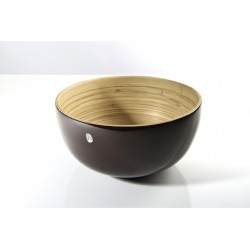 Tchon - Saladier bambou Ø 24 cm cacao