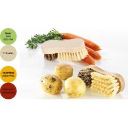 Brosse à légumes bois poils naturels
