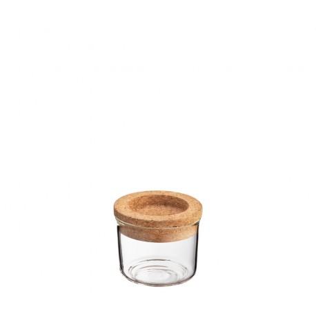 Pot en verre couvercle liège 150 ml