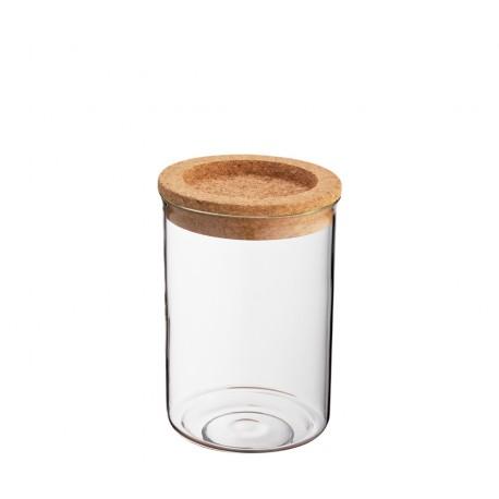 Pot en verre couvercle liège 850 ml