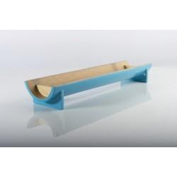 MI - Présentoire en bambou laqué turquoise