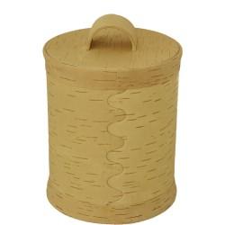 Boite ronde écorce de bouleau diam 17 cm hauteur 22 cm