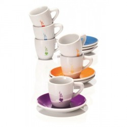 Coffret 6 tasses porcelaine