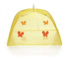 Cloche jaune repliable décor papillons