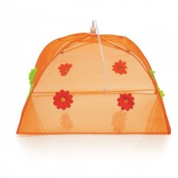 Cloche orange repliable décor fleurs