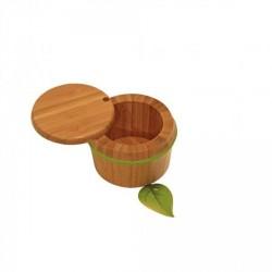 Boite à condiments bambou silicone