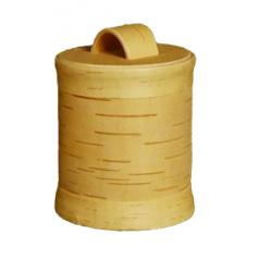Boite écorce de bouleau ronde diam 11 cm hauteur 12 cm