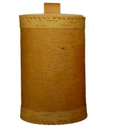 Boite écorce de bouleau diam 15 cm haut 23 cm