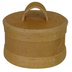 Boîte à épices écorce de bouleau ø 10.5 x 6.5 cm