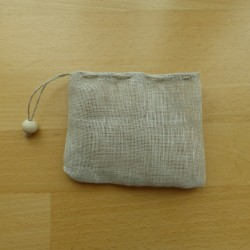 Filtre à thé réutilisable en voile de lin biologique