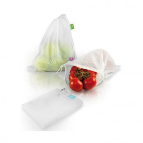 Set 3 sachets fraîcheur Tissu fruits légumes