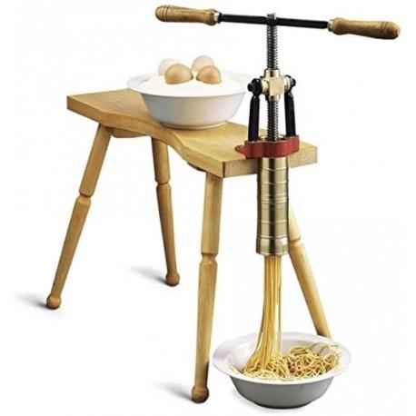 Pressoir manuel pour pâtes Torchio Bigolaro avec banc