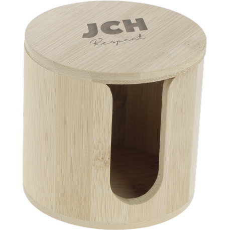 Boite bambou pour disques démaquillants lavables